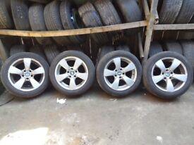 4x 17 '' INCH BMW ALLOY WHEELS 5 SPOKE SPIDER 7.5J ET20 6762001 / BMW E60 E61 E63 E64 5 6 SERIES