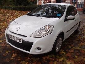 Renault Clio 1.5 dCi I-Music 3dr 12 MONTHS WARRANTY FREE 2010 (60 reg), Hatchback HAND FREE FITTED