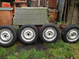 Ford transit connect set of four 195/65/15