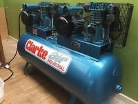 Large duel engine Clarke XE29/270 - Industrial Air Compressor (230V) (RRP £1197.60!)