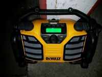 Dewalt DCR017 DAB 240 and battery powered site radio