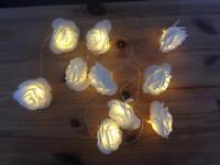 LED white rose lights