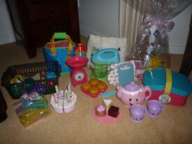 Kids play kitchen accessories, 9 different sets, Excellent Condition