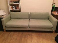 Green pull-out couch