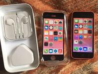 iPhone 5c 16GB, EE, virgin. Pink, good condition, full working.