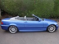 BMW 320 M Sport Convertible in Estoril Blue with Matching Roof