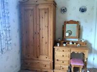 Hand made solid pine dressing table