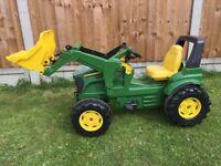 John Deere ride on toy tractor