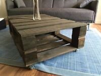 Handmade coffee table from reclaimed pallet wood