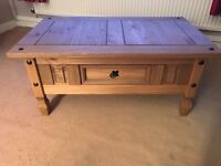 Solid pine coffee table as new hardly used no marks or scratches