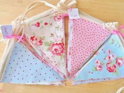 Cath Kidston Fabric Bunting Shabby Chic Wedding Party Vintage Decorations 50FT