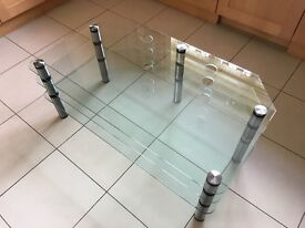 Optimum 2000 TV and Audio Glass Stand