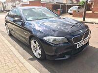 2012 (62) BMW 535D Msport, Carbon Black, Dakota Oyster leather, Xenon Lights, Adaptive drive, HUD