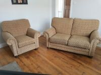 Great Quality Hatfields Medium Sofa and Chair