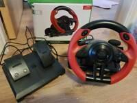 Speedlink Trailblazer Rasing Wheel & Pedal Vibration Effect / Xbox one/PC