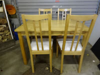 Ikea BJORKUDDEN Table and 4 ARON Chairs0