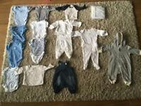 Baby clothes bundle 0-1 month