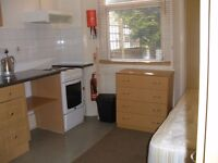 Single furnished ground floor room with built-in kitchen