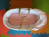Moses basket excellent condition £5