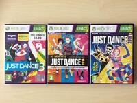 Xbox360 Just Dance collection 2016, 2014 and 3