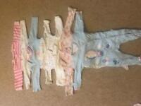 Baby girls cloths bundle newborn to 6 months