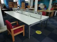 ***CLEARANCE WHITE DESK BENCH SYSTEM ***
