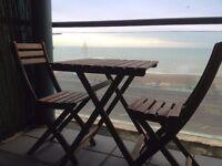Foldable outdoor balcony / garden table & chair set