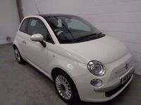 FIAT 500 , 2012, ONLY 22000 MILES + FULL HISTORY, GLASS ROOF, YEARS MOT, FINANCE AVAILABLE, WARRANTY