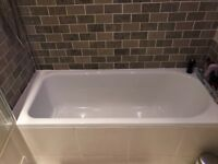 Bathroom fixtures (bath tub, sink, toilets, radiators)