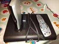 Sky HD Box + Remote + Router +wireless connector mini