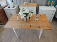 Shabby chic antique farmhouse dining table