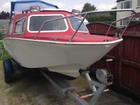 Microplus 501 explorer boat , engine and trailer
