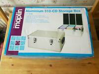 Aluminium cd or DVD storage box unused in very good condition
