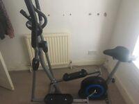 Pro Fitness 2 in 1 Exercise Bike/Cross Trainer
