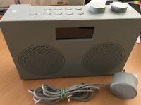 John Lewis Spectrum Duo DAB/DAB+/FM Bluetooth NFC Digital Radio, Slate Grey