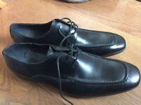 Black Italian leather shoes for Men size 9.5 UK/ 43 EU