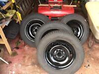 "Vw winter tyres wheels 15"" 195 65 15 nokian nr d3"