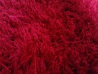 Red shaggy rug large