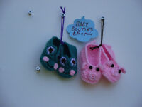 Hand crocheted baby booties. Now only £4 a pair.