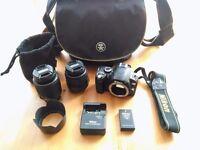 Nikon D60 Digital SLR + 2 Nikon DX Lenses + Bag
