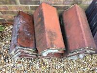 28 reclaimed clay ridge tiles