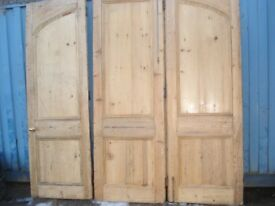 LARGE STRIPPED PINE BY FOLD ROOM DIVIDING DOORS