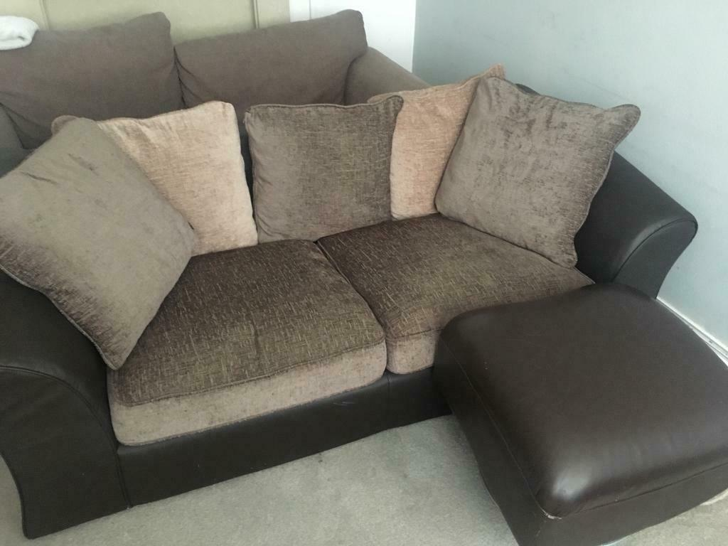 Free Sofa 2x 2 Seater Sofas With Foot Rest In Stockport