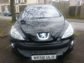 58 reg PEOGEOT 308 , new MOT .very clean and reliable car