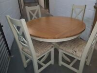 Mark Webster Ex Showroom Fixed Top Dining table + 4 chairs