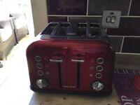 Morphy Richards 4 slice toaster red