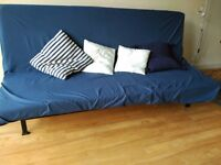 ikea three seat sofa bed, with cover and cushions, perfect condition, non smoker house
