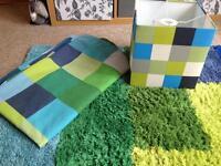 Next minecraft single bedding set, light shade and rug