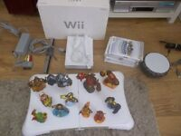 Wii Nintendo games console , Games and balance board Full set up, With Skylanders.