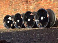 Borbet A deep dish alloy wheels, 4x108 Peugeot, Ford, Audi etc RARE